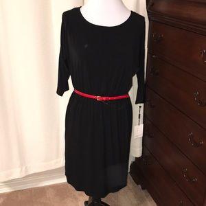 NWT Calvin Klein Black 3/4 cut out sleeve dress. 8